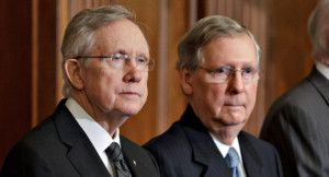 Mitch McConnell and Harry Reid