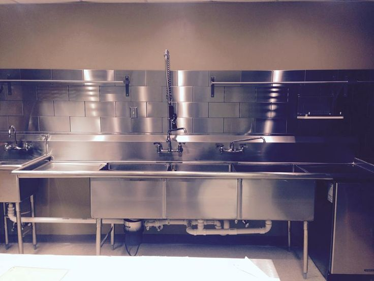 Commercial kitchen design this is a the remodeled kitchen from my church the modern look was for Church kitchen designs