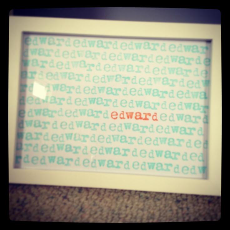 'edward' print.