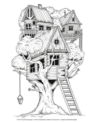 tree house coloring pages Free Coloring Pages: Cleverpedia's Coloring Page Library | Adult  tree house coloring pages