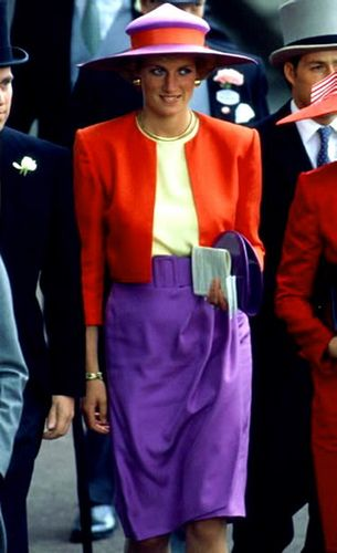 One of my favorite ensembles as she visited a South American country and dressed in respectful tones.