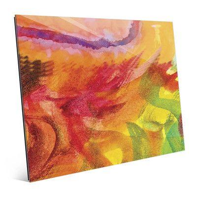 "Click Wall Art 'Lumaca' Print of Painting on Glass Size: 20"" H x 24"" W x 1"" D"