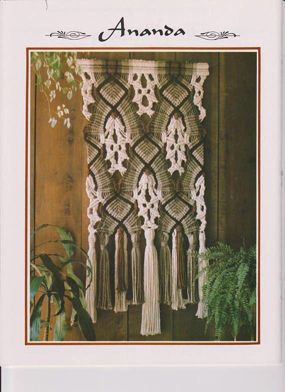Macrame Wall Hanging Pattern. Vintage 1970's. PDF Instant
