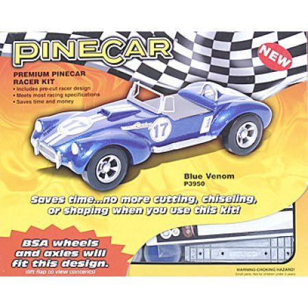 Pine Car Derby Racer Kit, Blue Venom, Multicolor