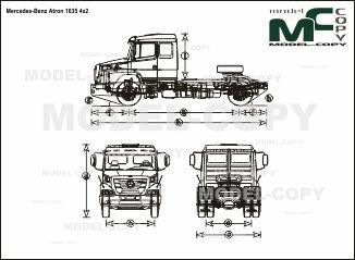 Mercedes-Benz Atron 1635 4x2 - drawing