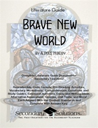 the use of literary devices in the novel brave new world by aldous huxley Brave new world revisited is a fantastic critical analysis of bnw, how it differs with orwell's 1984, and the world as huxley saw it some 30 after the book debuted.