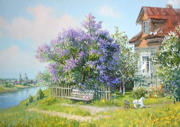 Дом над рекой, автор Владимир. Артклуб Gallerix