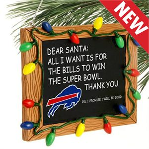 Buffalo Bills Christmas Chalkboard Ornament
