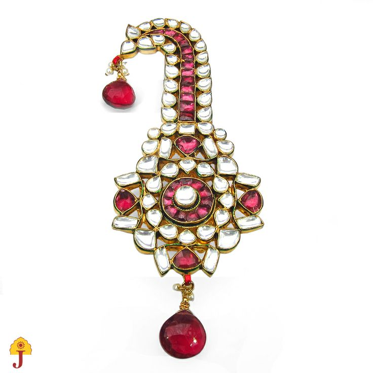 Small Sarpech to give you the royal look. Queries: cs@jaipurmahal.com