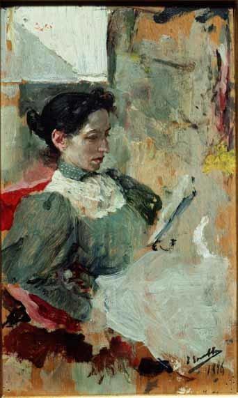 Clotilde leyendo, de Joaquín Sorolla Bastida