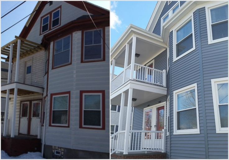 Mastic vinyl siding before and after photos new bedford for Harvey siding colors
