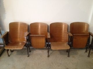 antique wood theater seats | Vintage | Pinterest | Theater ...