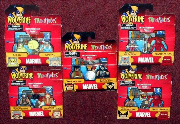 MiniMates - Marvel Wolverine Wave 72 Mojo & Spiral Silver Samurai & Hand Ninja Weapon X Wolverine & Lady Deathstrike Ninja Attack Wolverine & Hand Ninja TRU: Tactical Wolverine & Marvel Now Magneto