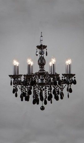 Maria Theresa Gabriella Black Chandelier 8 Lights