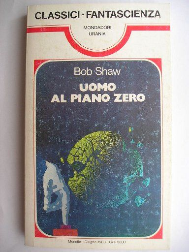 """The novel """"Ground Zero Man"""" by Bob Shaw was published for the first time in 1971. In 1985 it was republished in a new revised version under the title """"The Peace Machine"""". Cover image by Karel Thole for an Italian edition. Click to read a review of this novel!"""