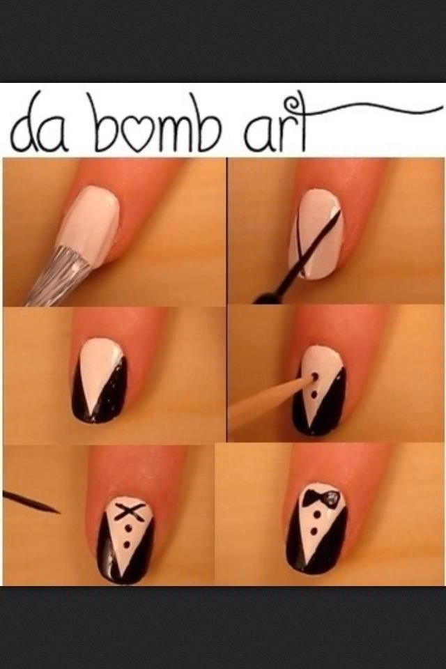 Tux Nails did it.its soo cute