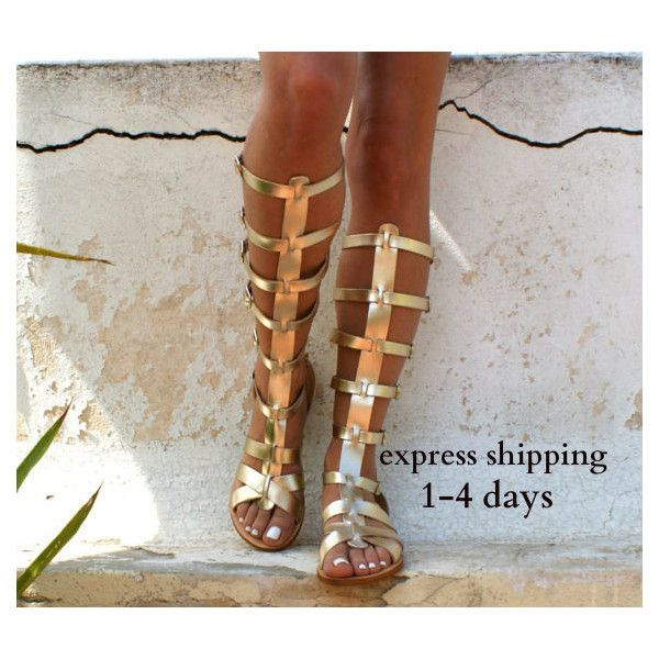 Ares 3 Leather Gladiator Sandals Ancient Greek Sandals Lace Up Sandals... (€73) via Polyvore featuring shoes, sandals, gladiator & strappy sandals, gold, women's shoes, laced up gladiator sandals, lace up gladiator sandals, strappy gladiator sandals, strap sandals and roman sandals