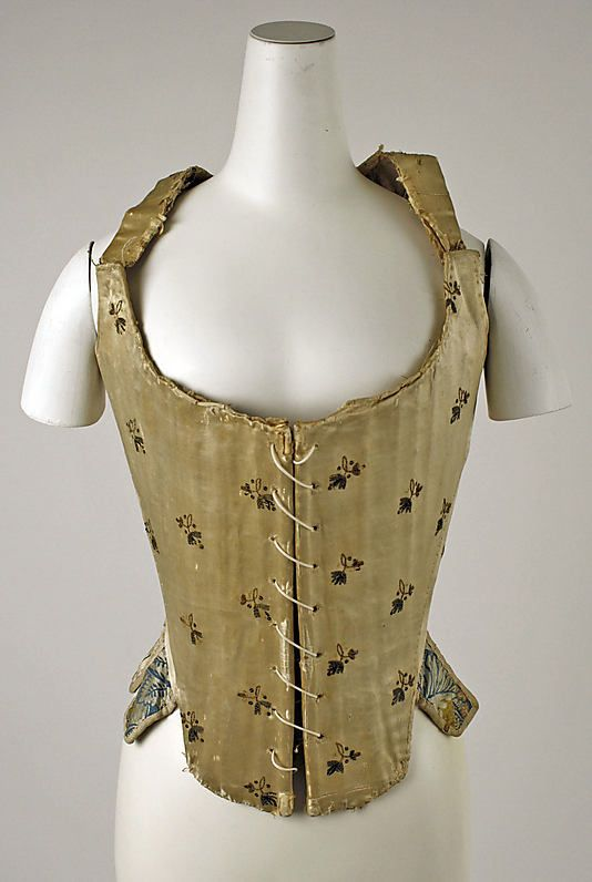 Stays Date: ca. 1780 Culture: Italian Medium: silk