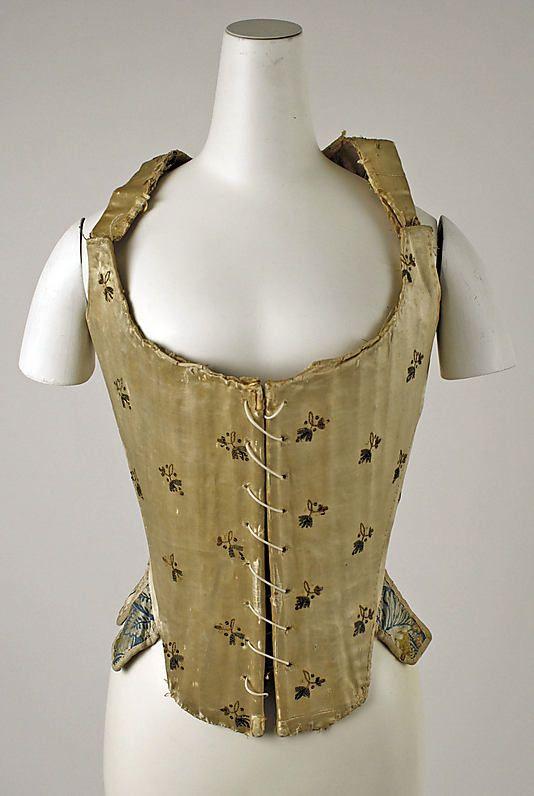 Stays Date: ca. 1780 Culture: Italian Medium: silk