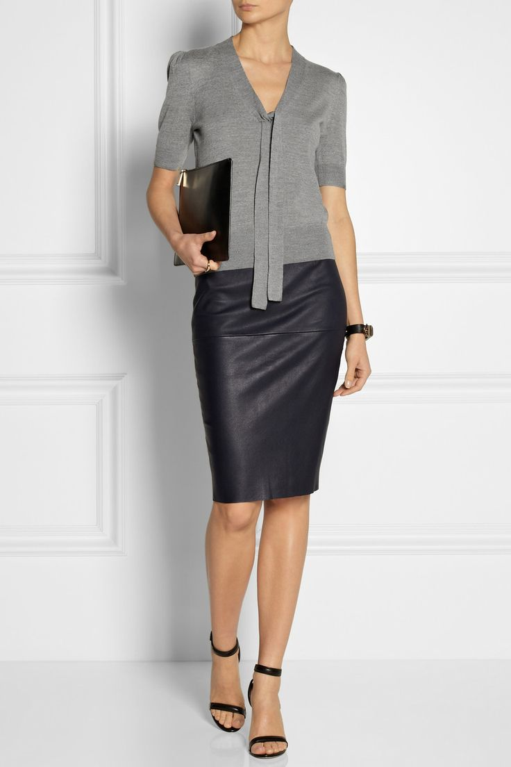 Michael Kors | Tie-neck fine-knit merino wool sweater | NET-A-PORTER.COM