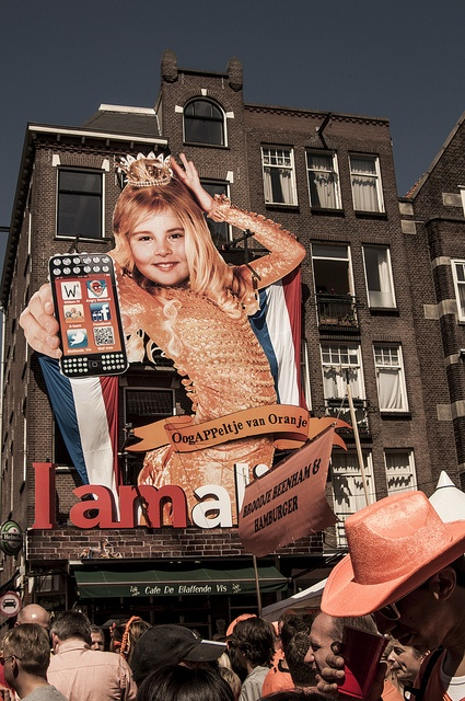 I am, queen´s day, amsterdam by agmimage, via Flickr