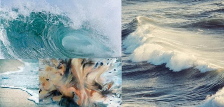 Pictura inspirata de valurile marii de Gabriela Popa.