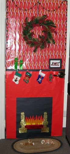 christmas door decorating office decorations for n