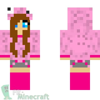 Aperçu de la skin Minecraft Fille en rose