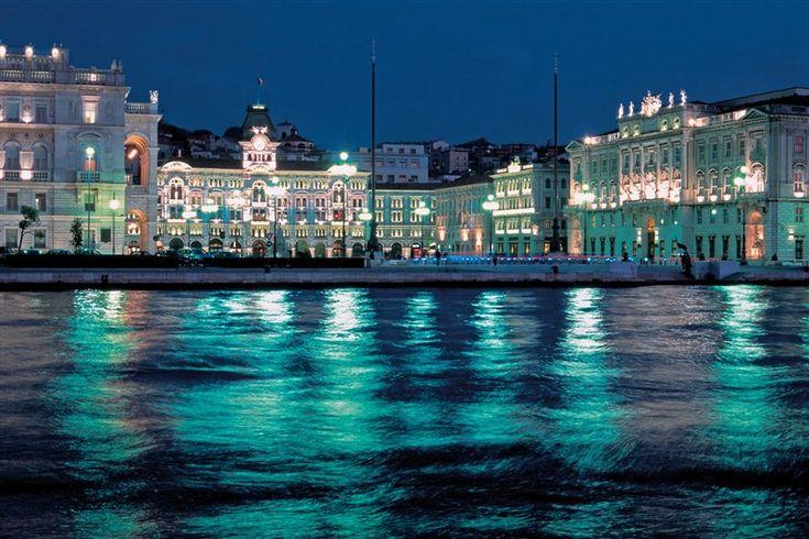 Trieste by night, Italy
