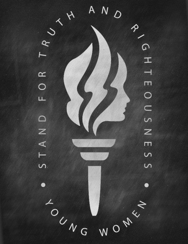 Young Women Torch on Chalkboard Background - Stand for Truth and Righteousness