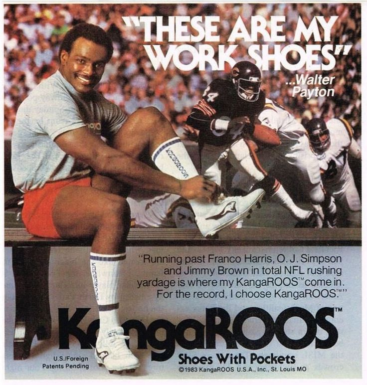 Sweetness' Work Shoes | #WalterPayton #Roos #Kangaroos #DaBears #Chicago #NFL #football