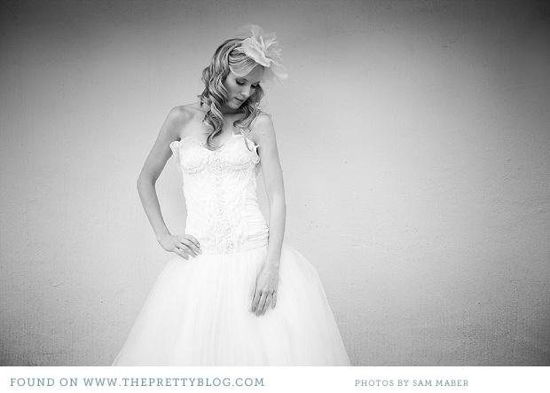 Romantic wedding dress. Image: Sam Maber