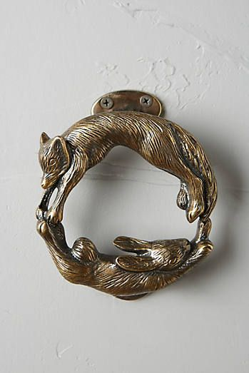 Forest Friendship Doorknocker | Anthropologie | #DoorKnocker