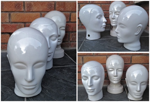 Heads up folks  A trio of rare vintage German modernist ceramic heads.  Sizes vary from 24cm H - 31cm H approx.  POA retroumage@gmail.com
