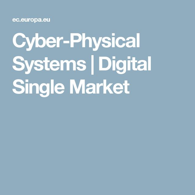 Cyber-Physical Systems | Digital Single Market