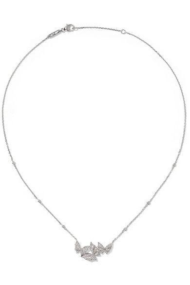 Stephen Webster - Fly By Night 18-karat White Gold Diamond Necklace - Silver - one size