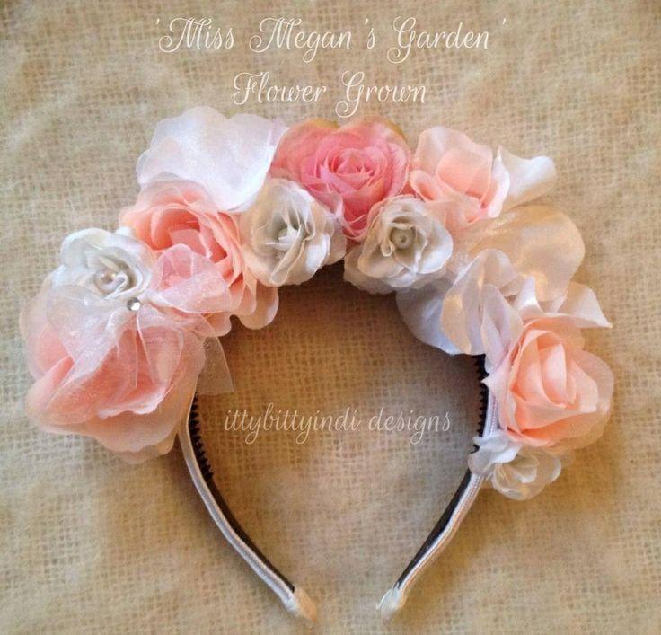Miss Meagan's Garden Flower Crown www.facebook.com/ittybittyindidesigns