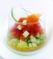 Эликсир молодости: Коктейль из авокадо, грейпфрута и имбиря с лососем...