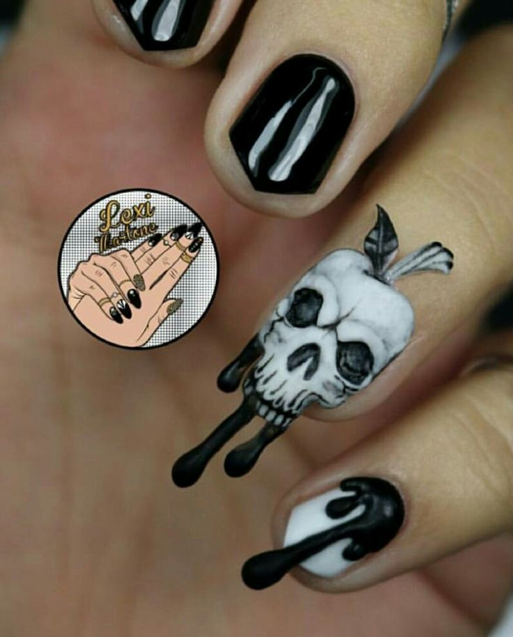 Gothic Nail Art - Poison Apple Inspired! #NailArt #Claws #Mani #Stiletto - The 25+ Best Gothic Nail Art Ideas On Pinterest Gothic Nails