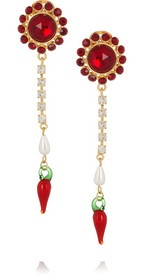 MIU MIU  Crystal and glass drop clip earrings  €176Miumiu