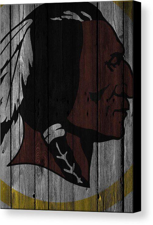 Redskins Canvas Print featuring the photograph Washington Redskins Wood Fence by Joe Hamilton