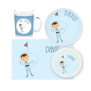 Astronaut Personalised Kids Mealtime Set $32.95 - $39.95 #sweetcreations # baby #toddlers #kids  sc 1 st  Pinterest : personalised baby plate set - Pezcame.Com