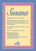 Susana: significado del nombre.
