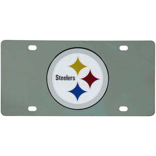 Pittsburgh Steelers Stainless Steel License Plate - $29.99