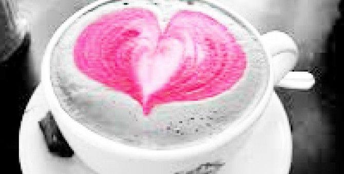 in the morning let's we drink  hot kopilatte