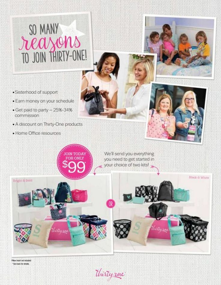 So many reasons to join Thirty-One.  #ThirtyOne #ThirtyOneGifts #Opportunity #JoinUs #WAHM www.bagsandstyle.com