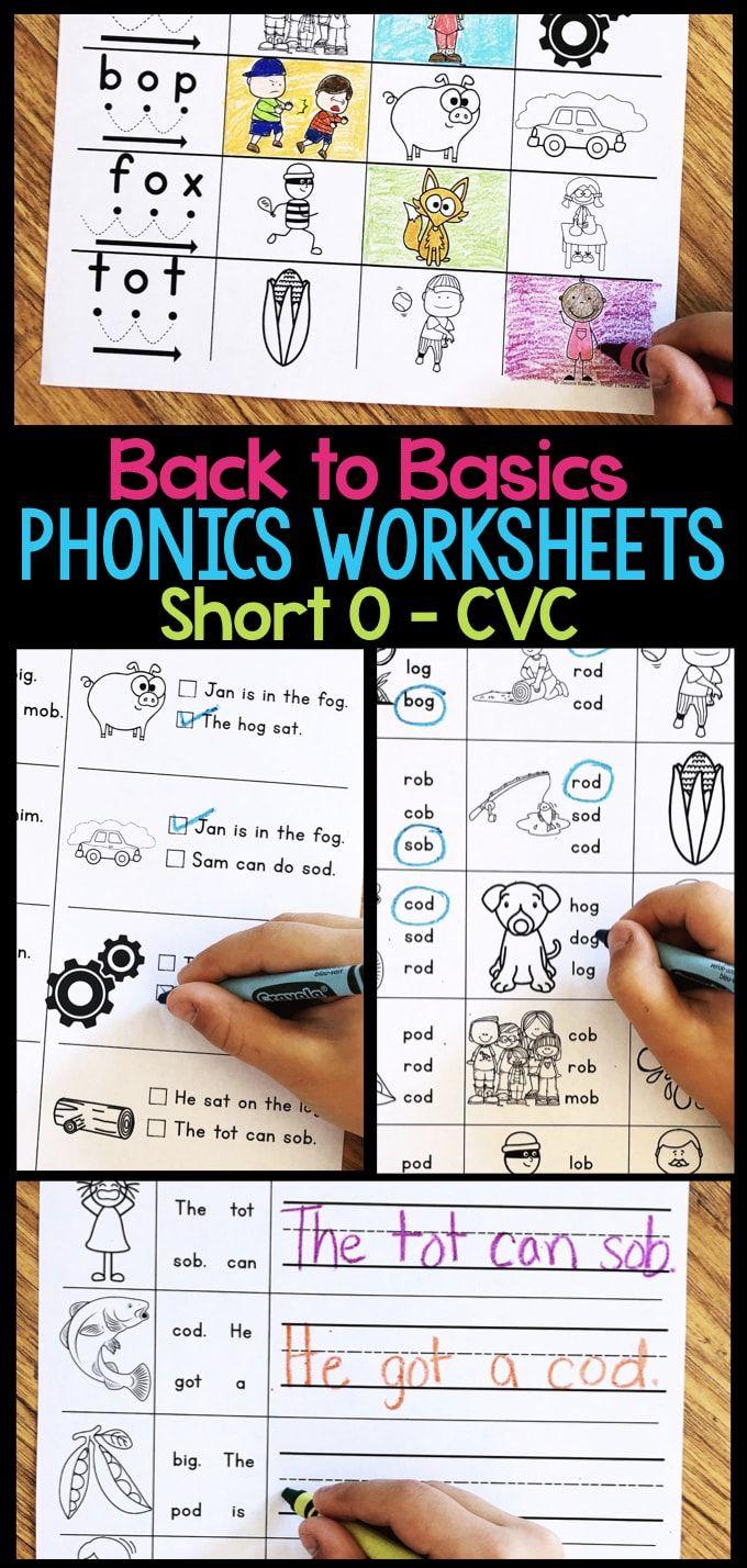 Short O Phonics Worksheets Short O Cvc Words Phonics Worksheets Kindergarten Reading Worksheets Cvc Words [ 1428 x 680 Pixel ]