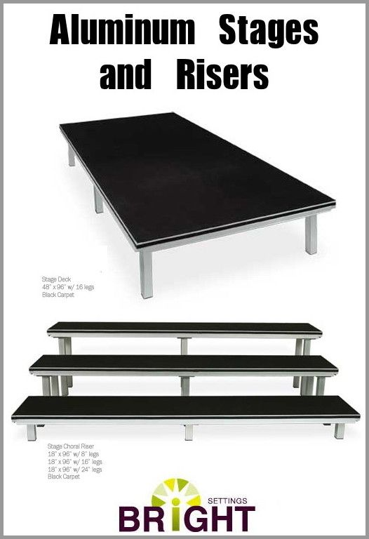 Our Aluminum Stages And Risers Are Of Such High Quality That Theyu0027re Backed  By · Stage DesignBright IdeasRustChips
