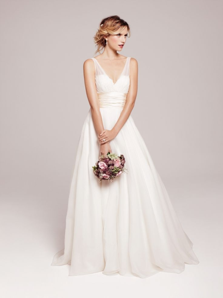 Anne Barge 'Emmanuelle' gown: soft, sweet, romantic. Not as low cut