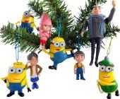 Despicable Me #Christmas Ornaments Figurines Pack of 8 Set